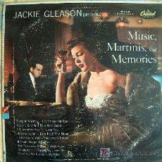 Disques de vinyle: LP - JACKIE GLEASON - MUSIC, MARTINIS AND MEMORIES - ORIGINAL AMERICANO, CAPITOL SIN FECHA. Lote 8840776