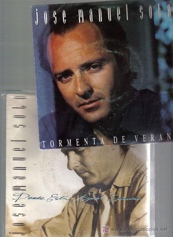 JOSE MANUEL SOTO - 2 DISCOS SINGLES PROMOCIONALES (Música - Discos - Singles Vinilo - Flamenco, Canción española y Cuplé)