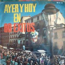 Discos de vinilo: LP - AYER Y HOY EN 80 EXITOS - ORIGINAL ESPAÑOL, HISPAVOX 1960. Lote 17672882