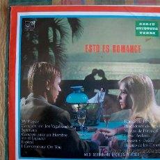 Disques de vinyle: LP - NILO SERGIO SU ORQUESTA Y VOCES - ESTO ES ROMANCE - ORIGINAL ESPAÑOL, ZAFIRO 1970. Lote 11543766