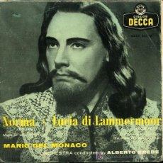 Discos de vinilo: MARIO DEL MONACO - NORMA / LUCIA DE LAMMERMOOR. Lote 16592152