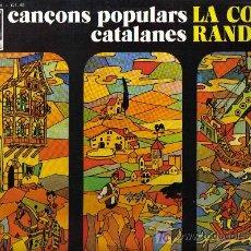 Discos de vinilo: LP LA CORRANDA - CANÇONS POPULARS CATALANES - ARREGLOS DE ENRIQUE HERRERA. Lote 25795024