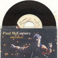 Discos de vinilo: SINGLE 45 RPM / PAUL MCCARTNEY ( THE BEATLES ) BIRTHDAY // EDITADO POR PARLOPHONE. Lote 7919162