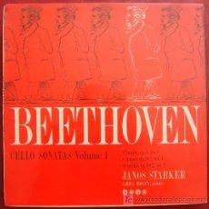 Discos de vinilo: SAGA - BEETHOVEN - CELLO SONATAS VOL.1 - JANOS STARKER - ABBA BOGIN, PIANO. Lote 5700782