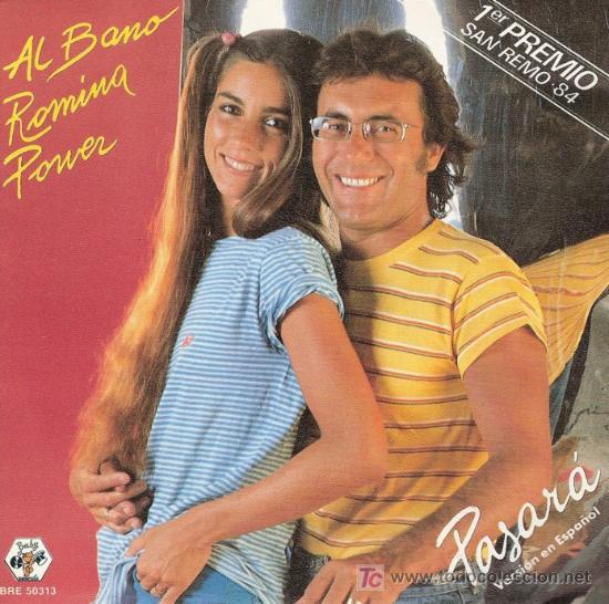 1ER. PREMIO FESTIVAL DE SAN REMO 1984. DISCO SENCILLO DE VINILO DE AL BANO Y ROMINA POWER: PASARÁ (V (Música - Discos - Singles Vinilo - Otros Festivales de la Canción)
