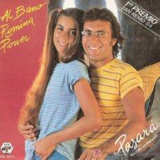 Discos de vinilo: 1ER. PREMIO FESTIVAL DE SAN REMO 1984. DISCO SENCILLO DE VINILO DE AL BANO Y ROMINA POWER: PASARÁ (V. Lote 196191085