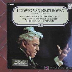 Discos de vinilo: LUDWING VAN BEETHOVEN SINFONIA Nº 5 EN DO MENOR, OP. 67 ORQUESTA FILARMONICA DE BERLIN. VON KARAJAN. Lote 13661160