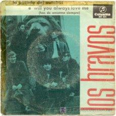 Discos de vinilo: SINGLE 45 RPM / LOS BRAVOS / LA PARADA DEL AUTOBUS// EDITADO POR COLUMBIA /// SOLO PORTADA . Lote 5724849
