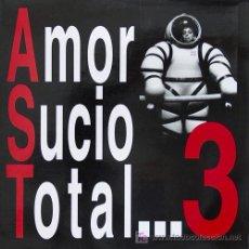 Discos de vinilo: AMOR SUCIO 'TOTAL… 3' 1992 TRIQUINOISE, ENCARTE INTERIOR CON LETRAS Y FOTOS, HOJA PROMOCIONAL. Lote 5813193