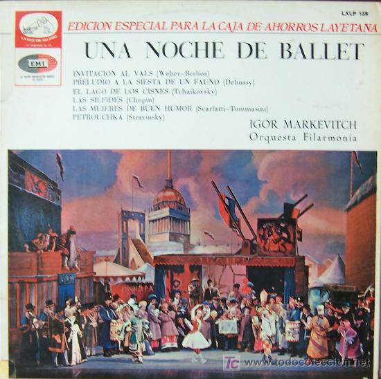 UNA NOCHE DE BALLET -VALS- (Música - Discos - Singles Vinilo - Clásica, Ópera, Zarzuela y Marchas)