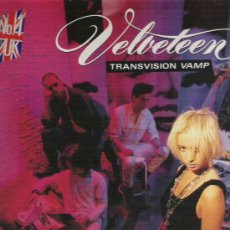 Disques de vinyle: TRANSISION VAMP - VELVETEEN -NUMERO 1 EN INGLATERRA 1989. Lote 13761339