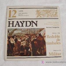 Disques de vinyle: HAYDN - SINFONIA Nº 100 (MILITAR) Y Nº 103 (REDOBLE DE TAMBORES). Lote 5745636