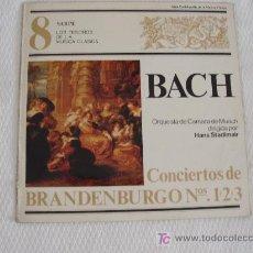 Disques de vinyle: BACH - CONCIERTOS DE BRANDERBURGO 1, 2, Y 3. Lote 5745693