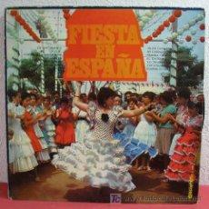 Discos de vinilo: FIESTA EN ESPAÑA ( ISLAS CANARIAS, ZAPATEADO, RUMBA GITANA, ¡Y OLÉ!, BULERIAS, TALENTO...) LP33. Lote 5763254