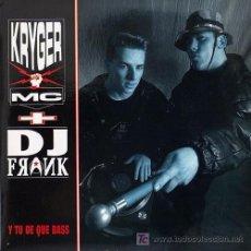 Disques de vinyle: KRYGER MC + DJ FRANK 'Y TÚ DE QUÉ BASS' HOJA PROM 1992. Lote 5830426