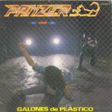 Discos de vinilo: UXV PANZER / GALONES DE PLASTICO - SUBE UN ESCALON / SINGLE PROMOCIONAL HEAVY METAL - CON LETRA. Lote 22250553