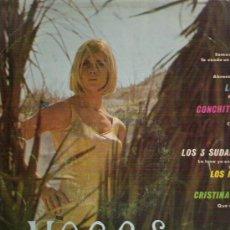 Discos de vinilo: VOCES Y CONJUNTOS - LOS HURACANES / LOS GRITOS CRISTINA Y LOS TOPS / CONCHITA BAUTISTA 1969. Lote 14258601