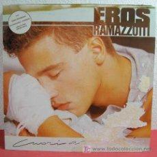 Discos de vinilo: EROS RAMAZZOTTI ( CUORI AGITATI ) 'TERRA PROMESSA, BUONGIORNO BAMBINA, UNA STORIA IMPORTANTE...'. Lote 5780164