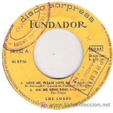 Discos de vinilo: LOS LORD`S 1967. Lote 5780269