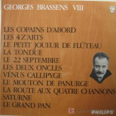 Discos de vinilo: GEORGES BRASSENS. VIII. LP 33 RPM PHILIPS ED. FRANCESA 844.757 BY. .. Lote 27249192