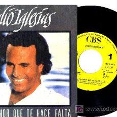 Discos de vinilo: JULIO IGLESIAS SINGLE PROMO . Lote 5802362