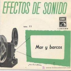 Discos de vinilo: EFECTOS DE SONIDO, MAR Y BARCOS. Lote 104015090