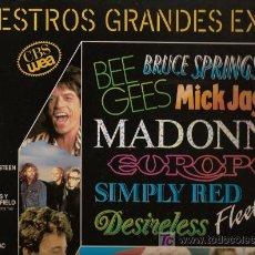 Discos de vinilo: ÁLBUM CON DOS DISCOS L.P. DE VINILO, NUESTROS GRANDES EXITOS: MADONNA, DESIRELESS, FLEETWOOD MAC, NI. Lote 24753770