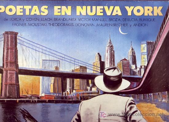 POETAS EN NUEVA YORK LP CON ENCARTE LETRAS DE LAS CANCIONES ORIGINAL CBS 1986 VARIOS ARTISTAS (Música - Discos - LP Vinilo - Cantautores Extranjeros)