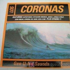 Discos de vinilo: LP LOS CORONAS GEN-U-INE SOUNDS SURF SEX MUSEUM VINILO. Lote 94722792