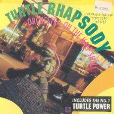Discos de vinilo: ORCHESTRA ON THE HALF SHELL-TURTLE RHAPSODY / PARTNERS IN KRYME-TURTLE POWER - SINGLE INGLÉS DE 1990. Lote 5978229