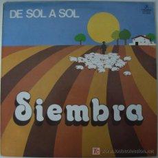 Discos de vinilo: SIEMBRA - DE SOL A SOL - 1982 - PROMOCIONAL - MUY RARO. Lote 27016763