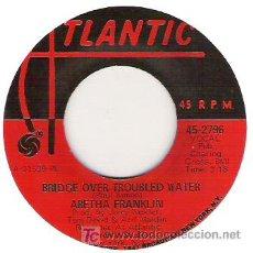 Discos de vinilo: ARETHA FRANKLIN - BRIDGE OVER TROUBLED WATER / BRAND NEW ME. Lote 6001530