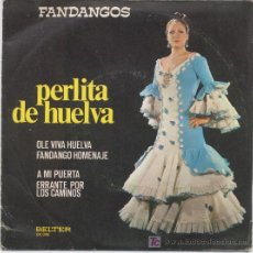 Discos de vinilo: PERLITA DE HUELVA, FANDANGOS. Lote 6017468