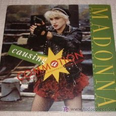 Discos de vinilo: MADONNA MAXI-SINGLE - CAUSING A COMMOTION - B.S.O WHO'S THAT GIRL - 1987 MADE IN USA - 12 PULGADAS. Lote 18122040
