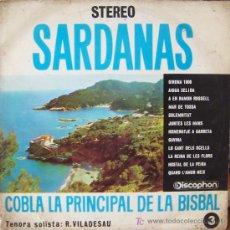 Discos de vinilo: SARDANAS COBLA LA PRINCIPAL DE LA BISBAL (GIRONA). Lote 23575673