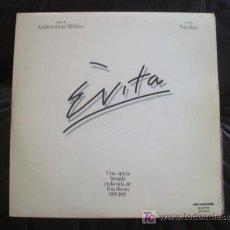 Discos de vinilo: EVITA - EL ÁLBUM CONCEPTUAL DEL MUSICAL DE ANDREW LLOYD WEBBER.. Lote 14279855