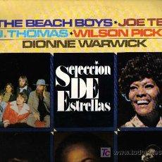 Discos de vinilo: LP SELECCION DE ESTRELLAS: JOE TEX , WILSON PICKETT , DIONNE WARWICK , THE BEACH BOYS. Lote 33386551