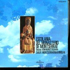 Discos de vinilo: ESCOLANÍA DEL MONASTERIO DE MONTSERRAT - SALVE MONTSERRATINA / VIROLAI - 1962. Lote 16731043