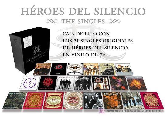 CAJA VINILOS 21 SINGLES HEROES DEL SILENCIO VINYL BOX (Música - Discos - Singles Vinilo - Grupos Españoles de los 90 a la actualidad)