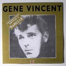 Discos de vinilo: GENE VINCENT ··· GRABACIONES INEDITAS Y RAREZAS - (LP 33 RPM). Lote 22580715
