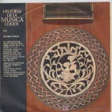 Discos de vinilo: HISTORIA DE LA MUSICA CODEX - ANTONIO VIVALDI - SINGLE ESPAÑOL DE 1965. Lote 6216029