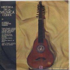 Discos de vinilo: HISTORIA DE LA MUSICA CODEX - LA ESCUELA CLAVECINISTICA FRANCESA - SINGLE ESPAÑOL DE 1965. Lote 6216050