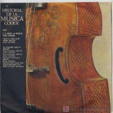 Discos de vinilo: HISTORIA DE LA MUSICA CODEX - JUAN SEBASTIAN BACH: LA MUSICA PARA ORGANO - SINGLE ESPAÑOL DE 1965. Lote 6216066
