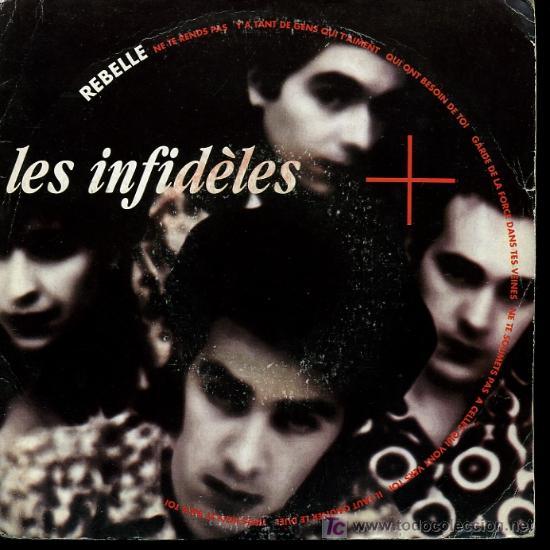 LES INFIDELES - REBELLE / BILLIE - 1990 - EDICIÓN FRANCESA (Música - Discos - Singles Vinilo - Pop - Rock Extranjero de los 90 a la actualidad)