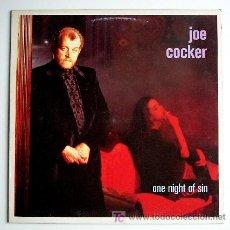Discos de vinilo: JOE COCKER ··· ONE NIGHT OF SIN - (LP 33 RPM). Lote 23376972