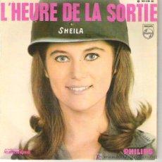 Discos de vinilo: SHEILA - L'HEURE DE LA SORTIE / TU ES TOUJOURS PRÈS DE MOI / LA VIE EST UN TOURBILLON 1966 YEYE GIRL. Lote 12449392