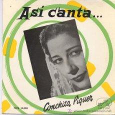 Discos de vinilo: CONCHITA PIQUER, ALMUDENA. Lote 6253018
