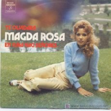 Disques de vinyle: MAGDA ROSA,TE OLVIDABA Y EN CUBA NACI SEÑORES,SG,PROMO. Lote 6253197