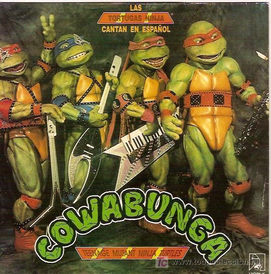 LAS TORTUGAS NINJA CANTAN EN ESPAÑOL SINGLE SELLO HORUS AÑO 1991 (Música - Discos - Singles Vinilo - Otros estilos)