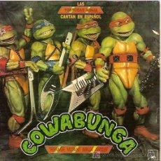 Discos de vinilo: LAS TORTUGAS NINJA CANTAN EN ESPAÑOL SINGLE SELLO HORUS AÑO 1991. Lote 6286393
